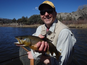 Used the skinny rig on this nice Eagle River Brown.