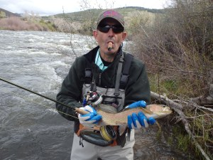 Bob with another fish using more conventional fly gearOLYMPUS DIGITAL CAMERA